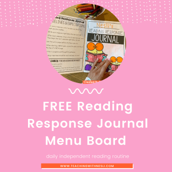 free reading response journal prompts and questions