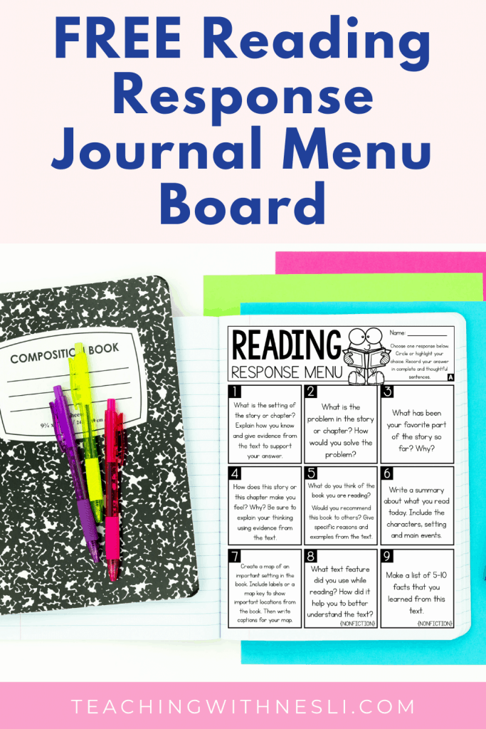 free reading response journal question prompts