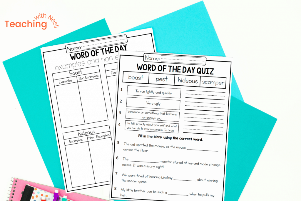 methods and activities for teaching vocabulary