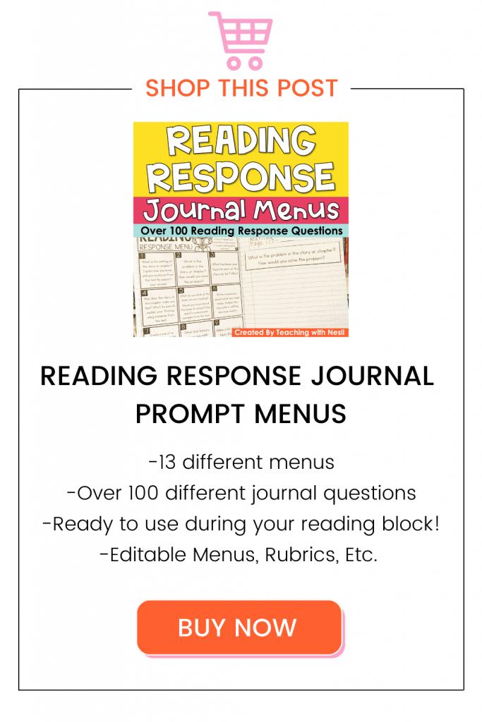 reading response journals set up